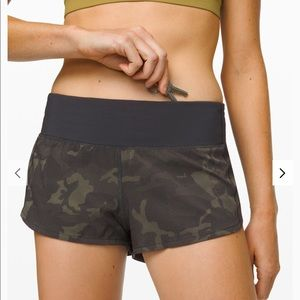 Lululemon Camo Speed Up LR Short 2.5""
